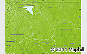 Physical Map of Surahammar Kommun