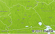 Physical 3D Map of Västeras Kommun