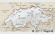 Classic Style 3D Map of Switzerland