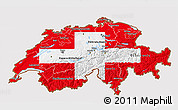 Flag 3D Map of Switzerland