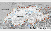 Gray 3D Map of Switzerland