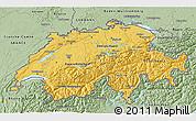 Savanna Style 3D Map of Switzerland