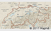 Shaded Relief 3D Map of Switzerland