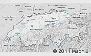 Silver Style 3D Map of Switzerland