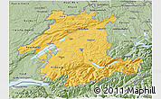 Savanna Style 3D Map of Espace Mittelland