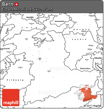 blank simple map of bern blank simple map of bern