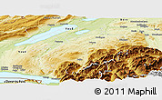 Physical Panoramic Map of Fribourg