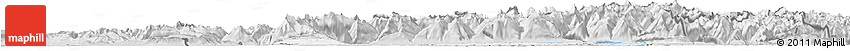 Silver Style Horizon Map of Espace Mittelland