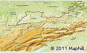 Physical 3D Map of Jura