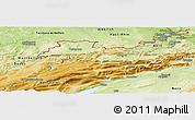 Physical Panoramic Map of Jura