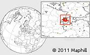 Blank Location Map of Espace Mittelland