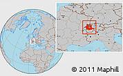 Gray Location Map of Espace Mittelland