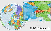 Political Location Map of Espace Mittelland