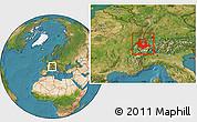 Satellite Location Map of Espace Mittelland
