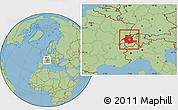 Savanna Style Location Map of Espace Mittelland