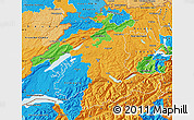 Political Map of Espace Mittelland