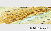 Physical Panoramic Map of Neuchâtel