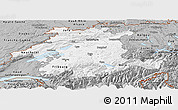 Gray Panoramic Map of Espace Mittelland