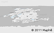 Gray Panoramic Map of Espace Mittelland, single color outside