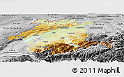 Physical Panoramic Map of Espace Mittelland, desaturated