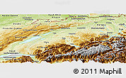 Physical Panoramic Map of Espace Mittelland