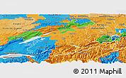 Political Panoramic Map of Espace Mittelland