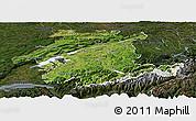 Satellite Panoramic Map of Espace Mittelland, darken