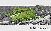 Satellite Panoramic Map of Espace Mittelland, desaturated