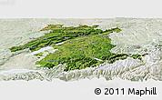 Satellite Panoramic Map of Espace Mittelland, lighten