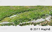Satellite Panoramic Map of Espace Mittelland