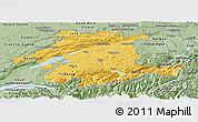 Savanna Style Panoramic Map of Espace Mittelland