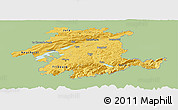 Savanna Style Panoramic Map of Espace Mittelland, single color outside