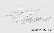 Silver Style Panoramic Map of Espace Mittelland, single color outside