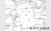 Blank Simple Map of Espace Mittelland