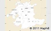 Classic Style Simple Map of Espace Mittelland, single color outside