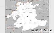 Gray Simple Map of Espace Mittelland