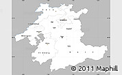 Gray Simple Map of Espace Mittelland, single color outside
