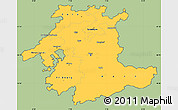 Savanna Style Simple Map of Espace Mittelland, cropped outside