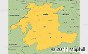 Savanna Style Simple Map of Espace Mittelland