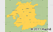 Savanna Style Simple Map of Espace Mittelland, single color outside