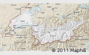 Classic Style 3D Map of Genferseeregion