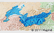 Political Shades 3D Map of Genferseeregion, lighten