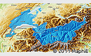 Political Shades 3D Map of Genferseeregion, physical outside
