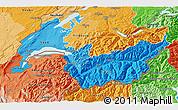 Political Shades 3D Map of Genferseeregion