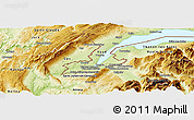 Physical Panoramic Map of Geneve