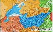 Political Shades Map of Genferseeregion