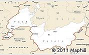 Classic Style Simple Map of Genferseeregion