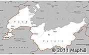 Gray Simple Map of Genferseeregion