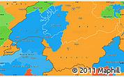 Political Simple Map of Genferseeregion