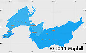Political Shades Simple Map of Genferseeregion, single color outside